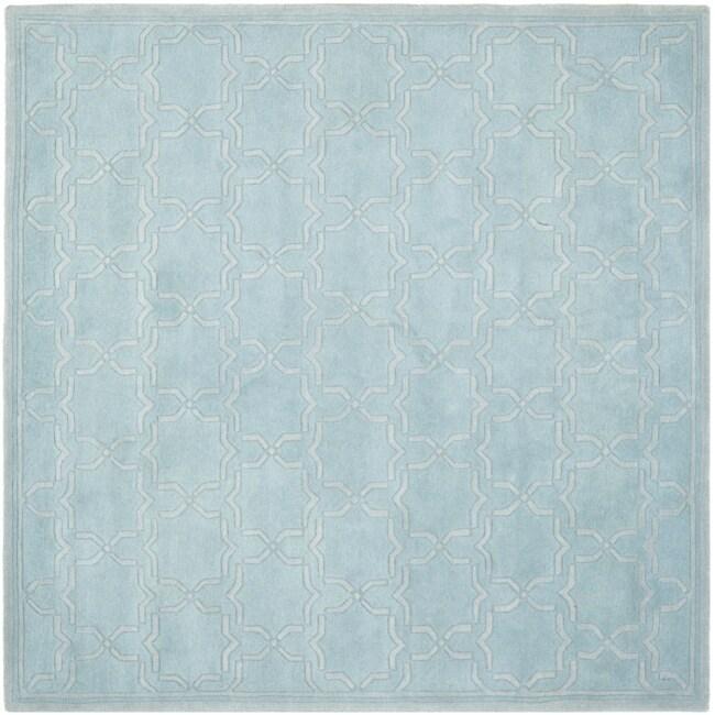 Safavieh Handmade Moroccan Chatham Bluish-Grey Wool Rug (7' Square) at Sears.com
