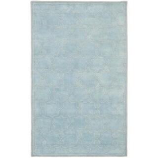 Safavieh Handmade Moroccan Chatham Bluish-Grey Wool Rug (6' x 9')