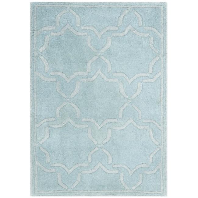 Safavieh Handmade Geometric Moroccan Grey Wool Rug (3' x 5')
