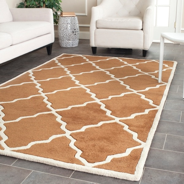 Safavieh Handmade Moroccan Chatham Brown Wool Rug (4' x 6')
