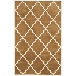 Safavieh Handmade Moroccan Chatham Brown Wool Rug (4' x 6')
