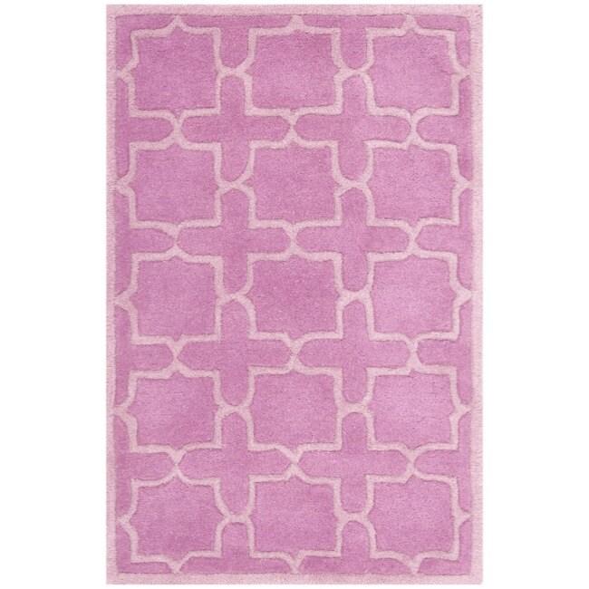Safavieh Handmade Moroccan Chatham Pink Wool Rug (3' x 5')