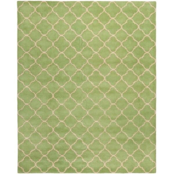 Safavieh Handmade Moroccan Chatham Green Wool Rug (8' x 10')