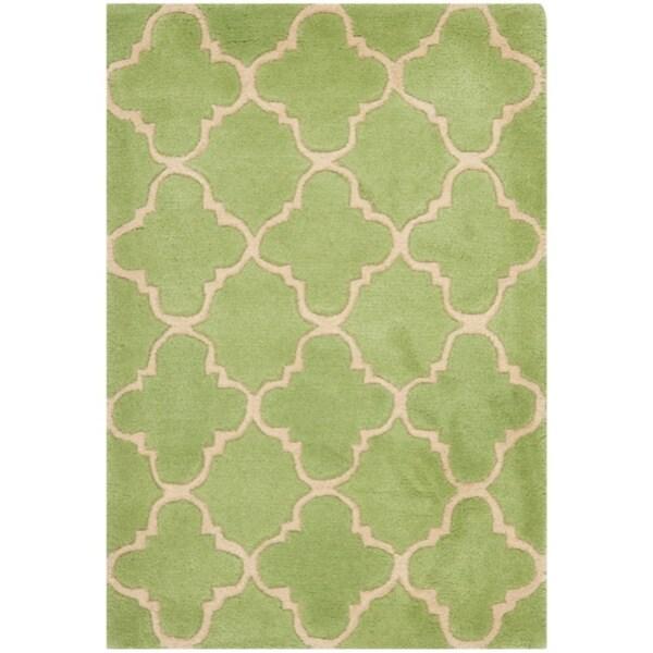 Safavieh Handmade Moroccan Chatham Green Wool Rug (3' x 5')