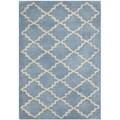 Safavieh Handmade Moroccan Chatham Blue Grey Wool Rug (3' x 5')