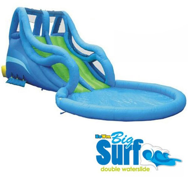 KidWise Big Surf Residential Double Waterslide with A Cool Pool