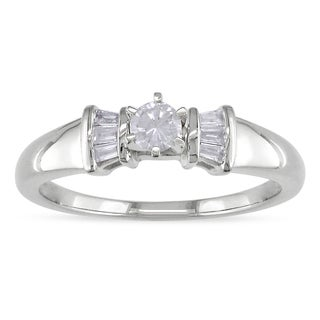 Miadora 14k White Gold 1/4ct TDW Diamond Ring (H-I, I2-I3)