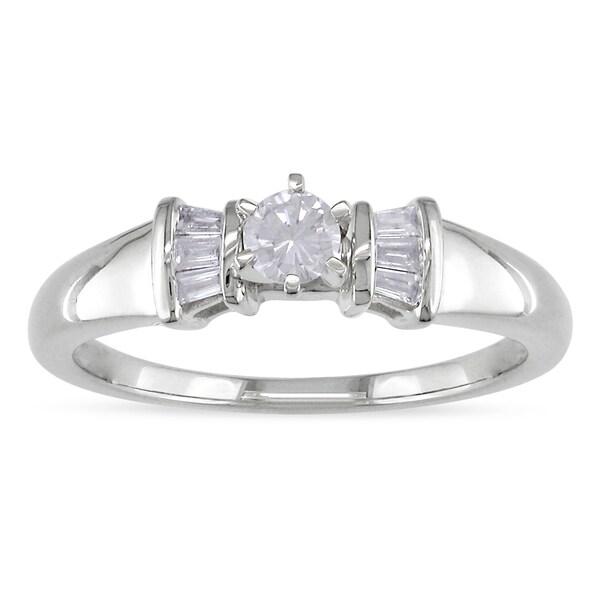 Miadora 14k White Gold 1/4ct TDW Diamond Ring (H-I, I2-I3)