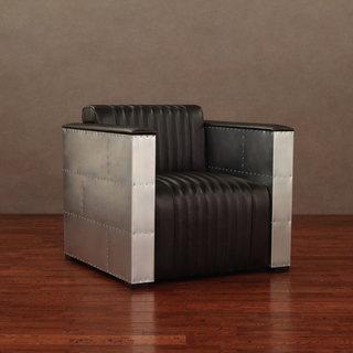 'Vindicator' Modern Dark Brown Leather Chair