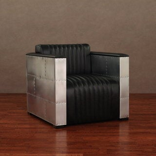'Vindicator' Modern Black Leather Chair