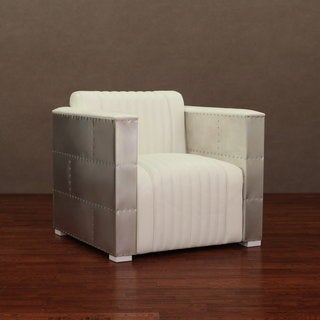 'Vindicator' Modern White Leather Chair