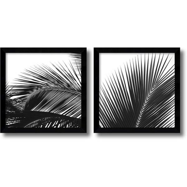 Jamie Kingham 'Palm Details' Framed Art Print Set 13 x 13-inch (Each)