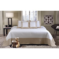 Brentwood Deluxe Ivory/Taupe Bedspread Set