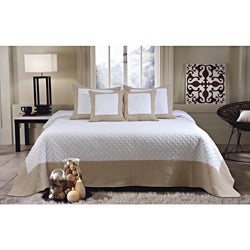 Brentwood Deluxe Ivory/Taupe 5-piece Bedspread Set