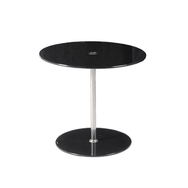 Euro Style Raina Black/ Chrome Side Table