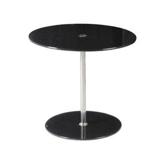 Euro Style Raina Black/ Chrome Side Table