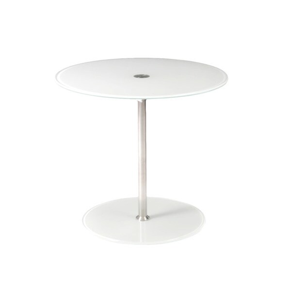 Raina White Side Table
