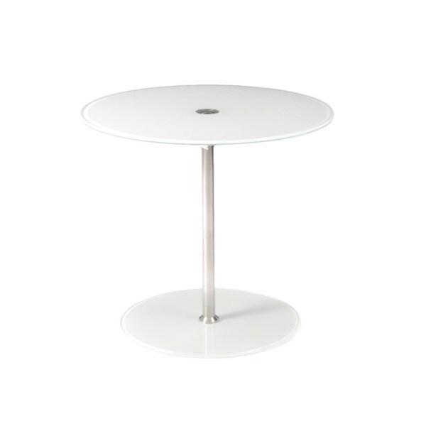 Raina White Side Table