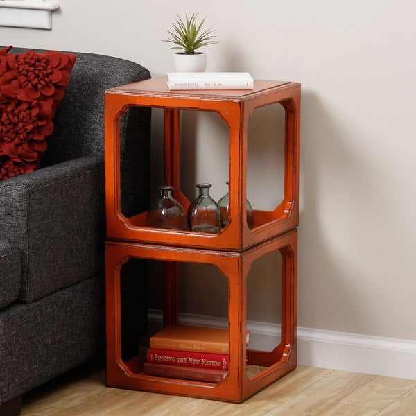Stackable Domino Cubes End Table (Indonesia)