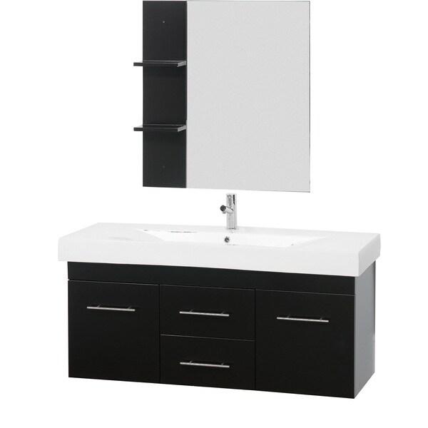 Mirabelle 48 Inch Espresso Bathroom Vanity Set 14645735 Shopping Great Deals