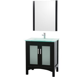 Bathroom Vanities on Iris 30 Inch Espresso Bathroom Vanity And Mirror Set   Overstock Com