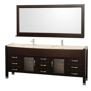 Daytona 78 inch Espresso Double Bathroom Vanity Set by Wyndham Collection