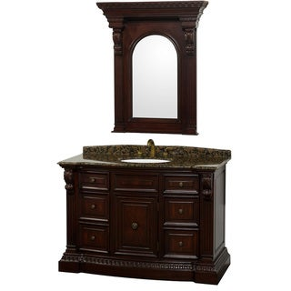 Roosevelt 48 inch Warm Cherry Traditional Bathroom Vanity by Wyndham Collection