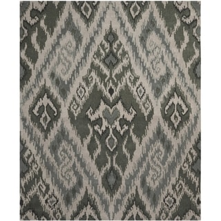 Contemporary Handmade Marrakesh Gray New Zealand Wool Rug (8' x 10')
