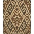 Handmade Marrakesh Brown New Zealand Wool Rug (6' x 9')