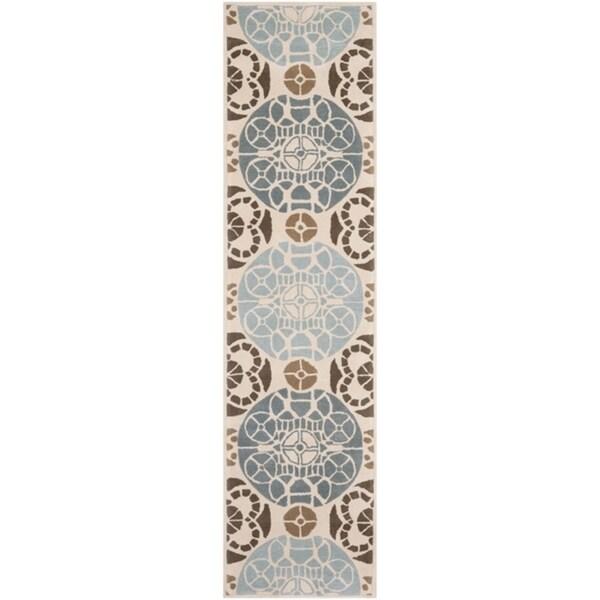 Safavieh Handmade Marrakesh Beige/ Blue New Zealand Wool Rug (2'3 x 9')