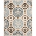 Handmade Marrakesh Beige/ Blue New Zealand Wool Rug (6' x 9')