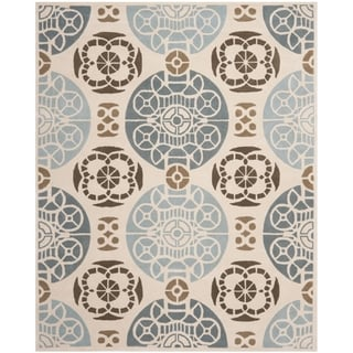Handmade Marrakesh Beige/ Blue New Zealand Wool Rug (8' x 10')