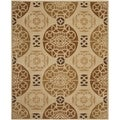 Handmade Marrakesh Beige/ Gold New Zealand Wool Rug (6' x 9')