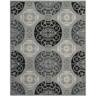 Handmade Marrakesh Grey/ Black New Zealand Wool Rug (6' x 9')