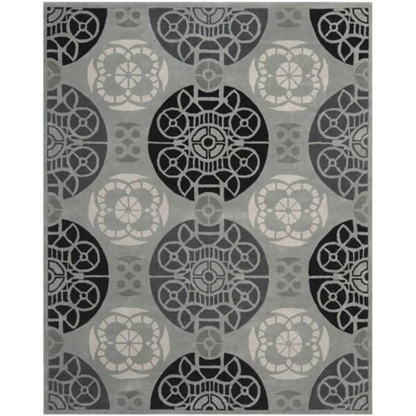 Safavieh Handmade Marrakesh Grey/ Black New Zealand Wool Rug (6' x 9')