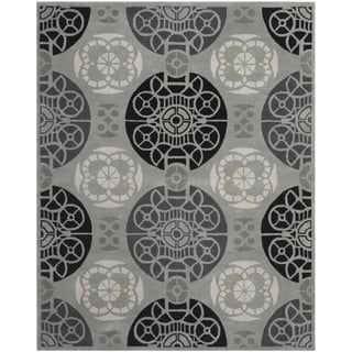 Handmade Marrakesh Grey/ Black New Zealand Wool Rug (8' x 10')