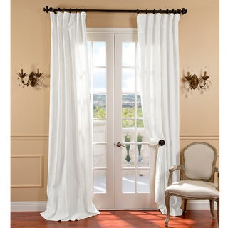White Belgium Linen Curtain Panel