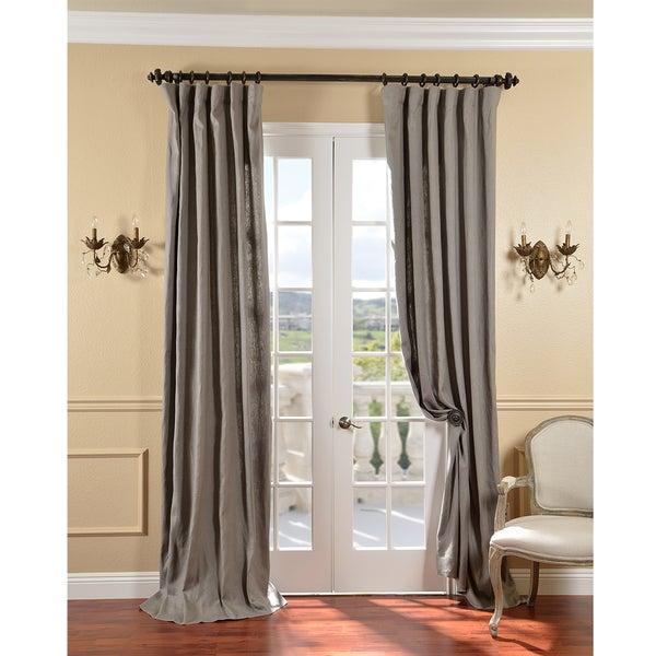 Grey Belgium Yarn Linen Curtain Panel