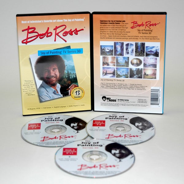 Weber Bob Ross DVD Joy of Painting Series 30. Featuring 13 Shows