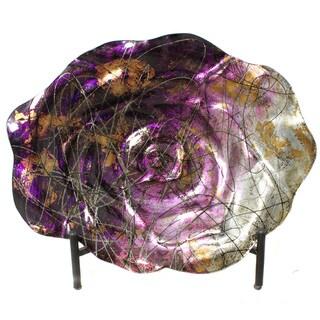 Casa Cortes Magenta Bowl Charger Decorative Art Glass Plate