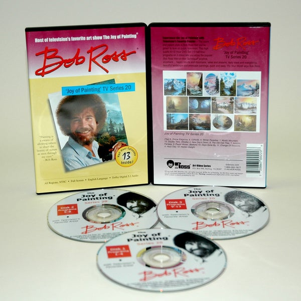 Weber Bob Ross DVD Joy of Painting Series 20. Featuring 13 Shows