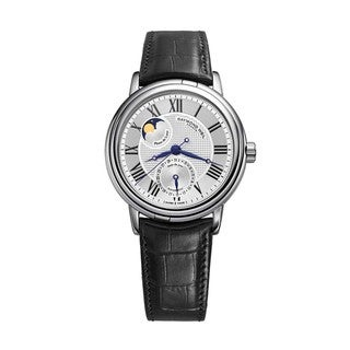 Raymond Weil Men's Maestro Silver Dial Leather Strap Watch