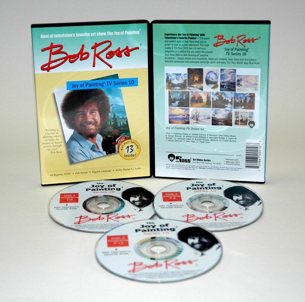 Weber Bob Ross DVD Joy of Painting Series 10. Featuring 13 Shows