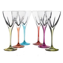 Lorren Home Trend Fusion Multicolor Water Goblets (Set of 6)