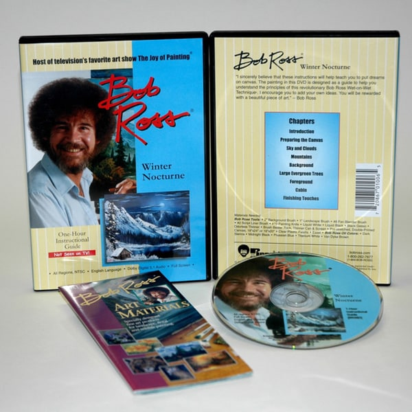 Weber Bob Ross DVD Winter Nocturne