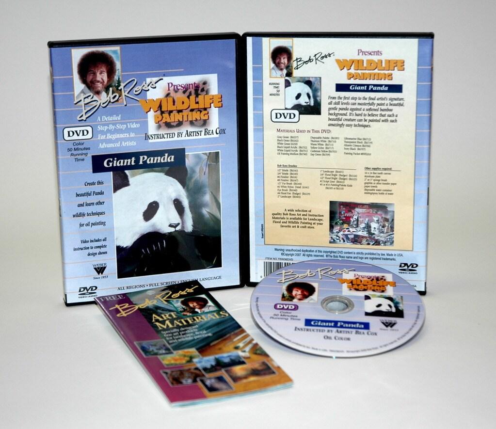 Weber Bob Ross DVD Wildlife Painting Giant Panda