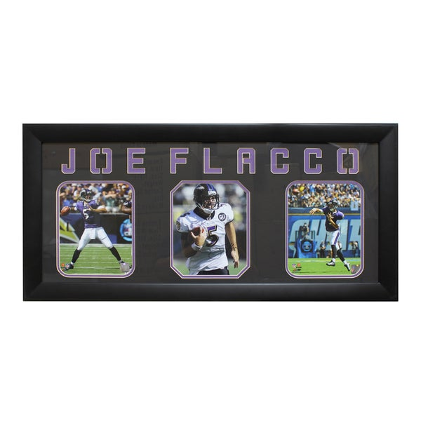 Joe Flacco Baltimore Ravens Three-Photo Frame 9635161