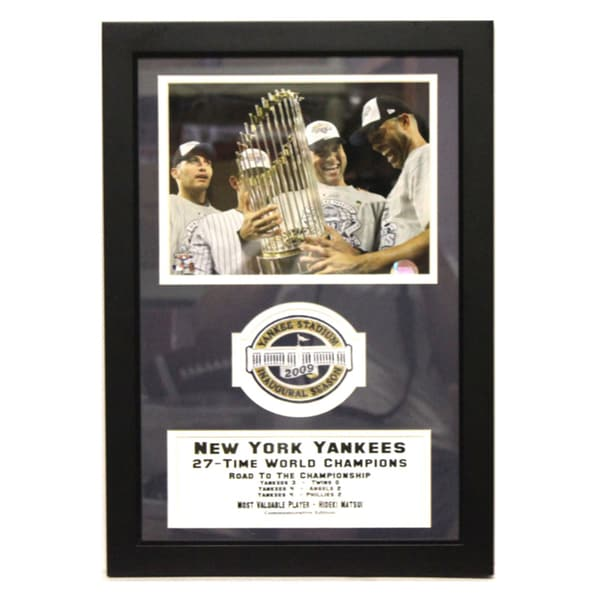 New York Yankees 2009 World Series Champions Stadium Patch Frame