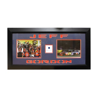 Jeff Gordon Authentic Car Part Double Photo Frame
