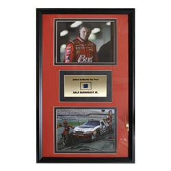Dale Earnhardt Jr. Authentic Car Part Double Photo Frame